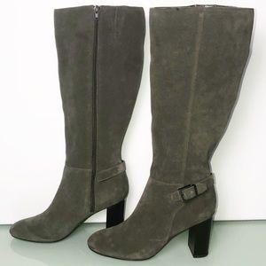 Bandolino Green/Gray Suede Knee High Boots 8.5NWOB
